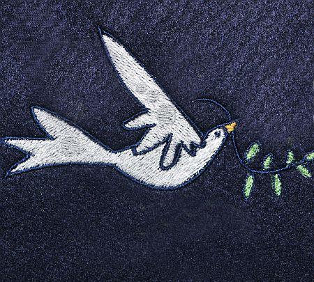Stickmuster Friedenstaube