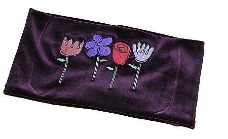 Sticken mit der Stickmashcine Blumen